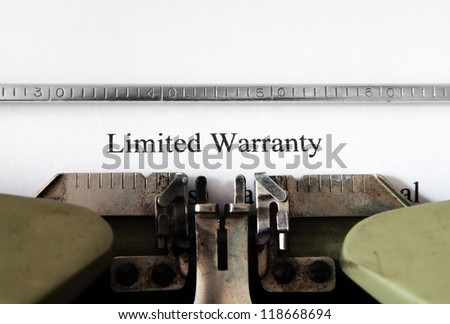 Limited warranty form