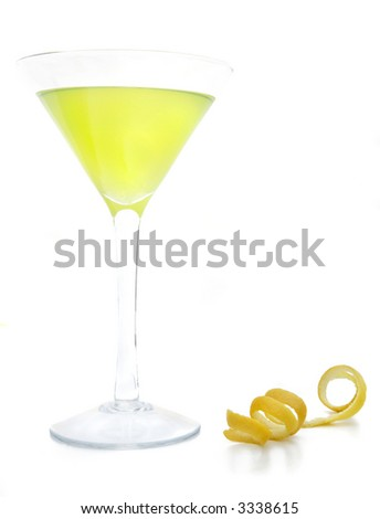Limoncello Zest - stock photo