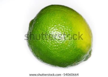 Limone isolated on white - stock photo