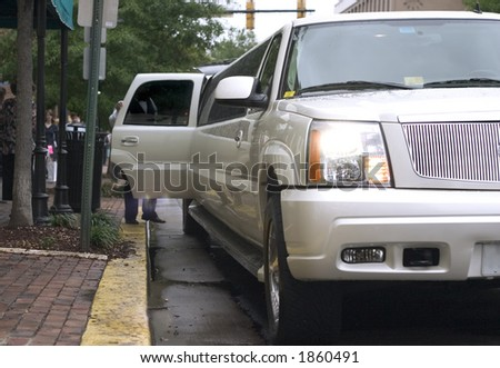 limousine front view - stock photo