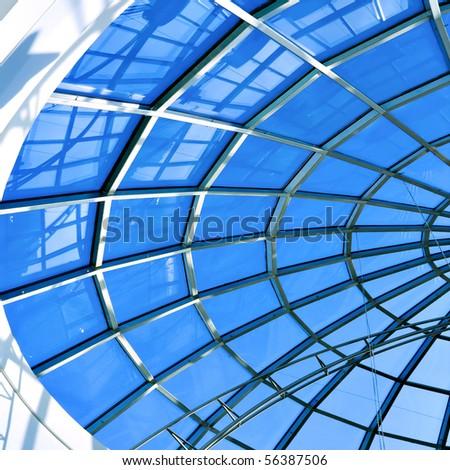 limpid round ceiling - stock photo