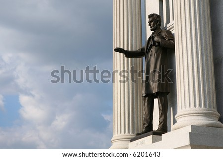 Lincoln at the Gettysburg National Military Park - stock photo