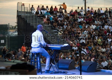 LINCOLN, CA - August 29: Brian McKnight performs at Thunder Valley Casino Resort in Lincoln, California on August 29, 2014