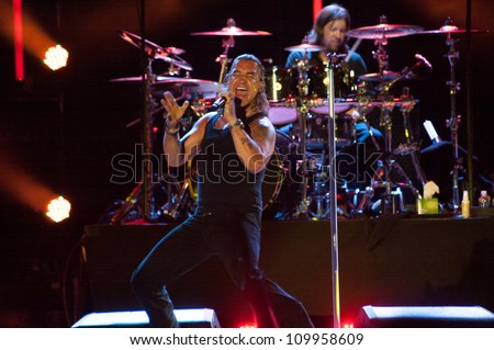 LINCOLN, CA - AUGUST 3: Creed performs at Thunder Valley Casino Resort in Lincoln, California on August 3rd, 2012 - stock photo
