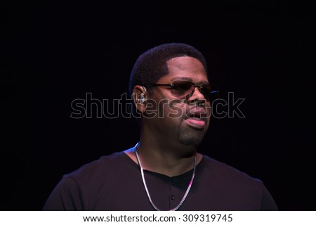 LINCOLN, CA - August 22: Nathan Morris of Boyz II Men performs at Thunder Valley Casino Resort in in Lincoln, California on August 22, 2015 - stock photo