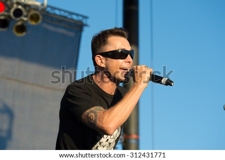 LINCOLN, CA - August 29: Thomas Flowers of the band Oleander performs at Thunder Valley Casino Resort in in Lincoln, California on August 29, 2015