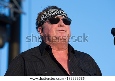LINCOLN, CA - June 7: Mike Reno of Loverboy performs at Thunder Valley Casino Resort in Lincoln, California on June 7, 2014