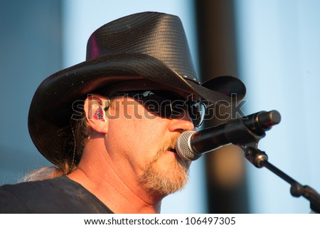 LINCOLN, CA - JUNE 29: Trace Adkins performs at Thunder Valley Casino Resort in Lincoln, California on June 29, 2012 - stock photo