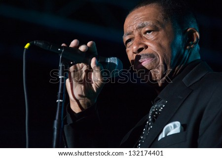 LINCOLN, CA - MARCH 15: Ben E King performs at Thunder valley Casino Resort in Lincoln, California on March 15, 2013 - stock photo