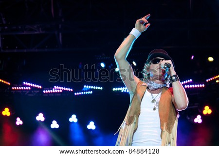 LINCOLN, CA - SEPT 16: Big Kenny with Big & Rich performs at Thunder Valley Casino and Resort in Lincoln, California on September 16th, 2011 - stock photo