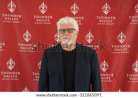 LINCOLN, CA - September 25: Michael McDonald poses for meet and greet photos at Thunder Valley Casino Resort in in Lincoln, California on September 25, 2015 - stock photo
