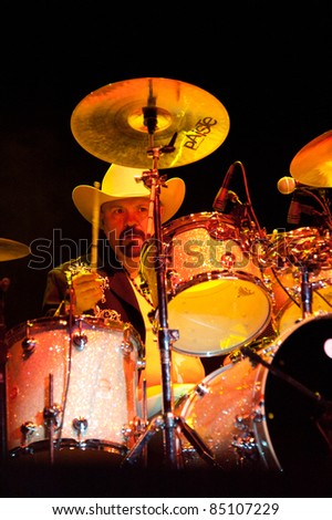LINCOLN, CA - September 17th: Jose Luis Ayala with Ramon Ayala performs at Thunder Valley Casino and Resort in Lincoln, California on September 17th, 2011 - stock photo