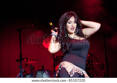 LINCOLN, CA - September 17th: Opening artist for Ramon Ayala performs at Thunder Valley Casino and Resort in Lincoln, California on September 17th, 2011 - stock photo