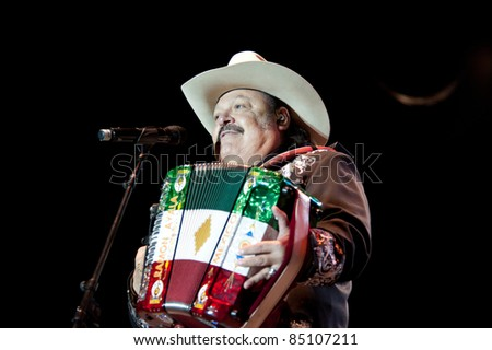 LINCOLN, CA - September 17th: Ramon Ayala performs at Thunder Valley Casino and Resort in Lincoln, California on September 17th, 2011 - stock photo