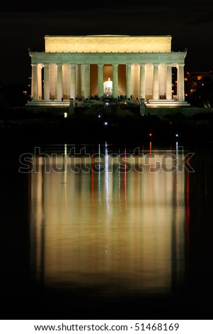 Lincoln Memorial at night, Washington, DC