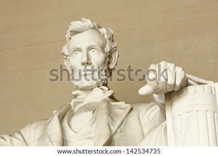 Lincoln memorial at Washington DC - stock photo