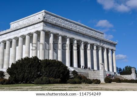 Lincoln Memorial in Washington DC - stock photo