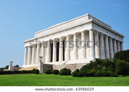 lincoln memorial building clipart. lincoln memorial in washington dc building clipart
