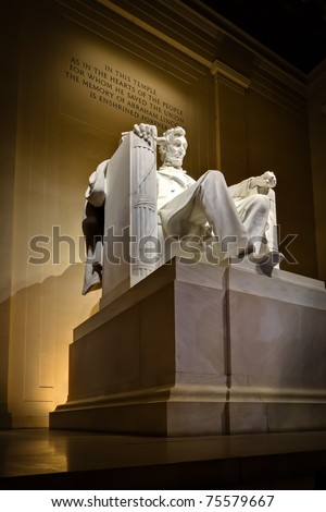 Lincoln Memorial in Washington, DC. - stock photo