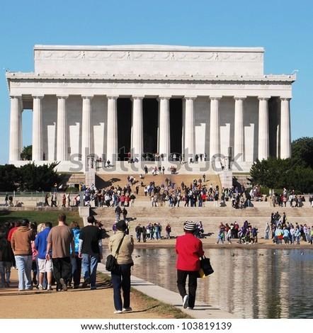Lincoln Memorial in Washington DC, USA - stock photo