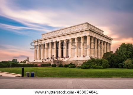 Lincoln Memorial in Washington DC, USA. - stock photo
