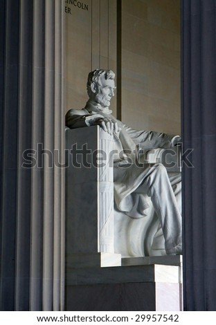 Lincoln Memorial Monument - stock photo