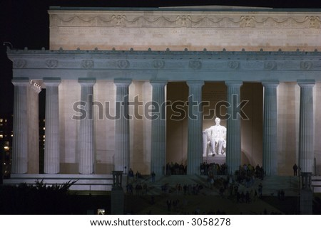 Lincoln Memorial night Washington DC travel series 15