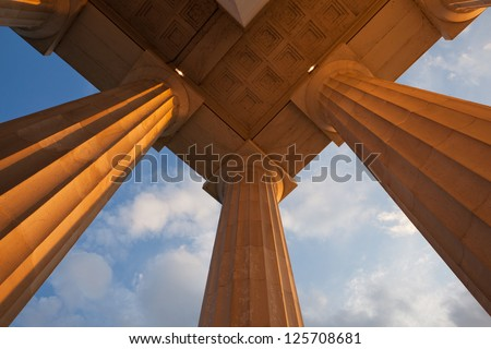 Lincoln Memorial Pillars - stock photo