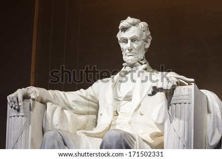 Lincoln Memorial Statue Washington DC - stock photo