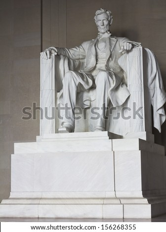 Lincoln memorial statue, Washington, DC, the United States