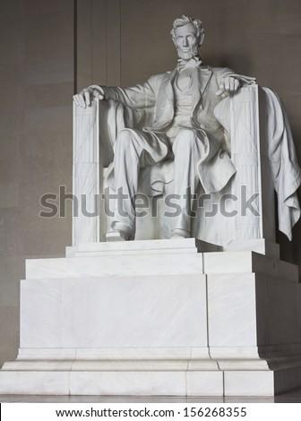 Lincoln memorial statue, Washington, DC, the United States - stock photo