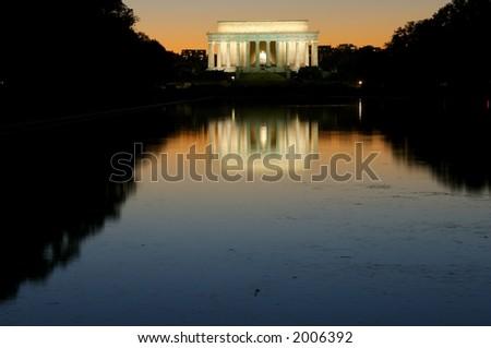 Lincoln Memorial, Washington, DC at twilight - stock photo