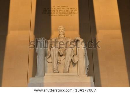 Lincoln Memorial Washington DC, United States - stock photo