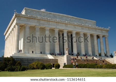 Lincoln Memorial, Washington, DC, USA - stock photo