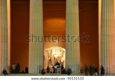 Lincoln Memorial,  Washington DC USA - stock photo
