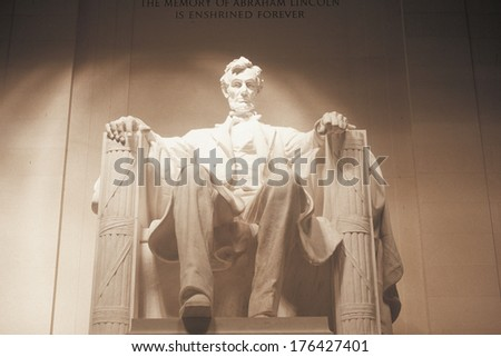 Lincoln Monument at Night, Washington, D.C.