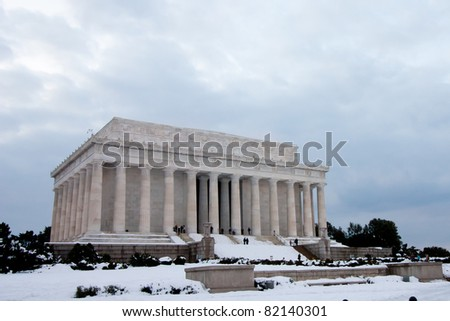 Lincoln Monument in Winter, Washington DC
