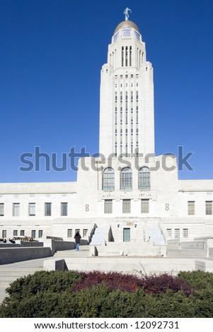 Lincoln, Nebraska - State Capitol Building. - stock photo