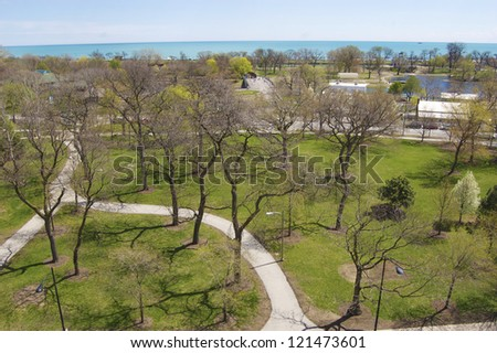 Lincoln Park in Chicago, Illinois - stock photo