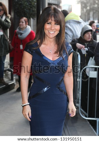Linda Lusardi arriving for the 2013 TRIC Awards, at The Grosvenor House Hotel, London. 12/03/2013 Picture by: Alexandra Glen