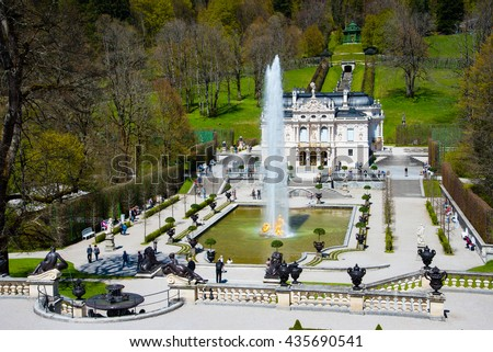 Linderhof Palace in Germany - stock photo