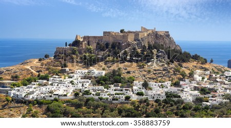 Lindos and the Acropolis, Rhodes, Greek Dodecanese Island