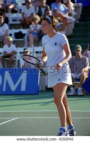 Lindsay Davenport at 1999 TIG Tennis Classic - stock photo
