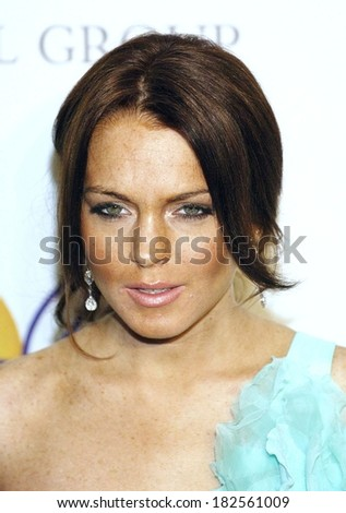 Lindsay Lohan at Clive Davis Pre-Grammy Party, Beverly Hilton Hotel, Los Angeles, CA, February 09, 2008 - stock photo