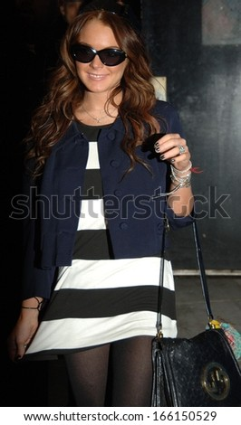 Lindsay Lohan at departures for MTV's Total Request Live, TRL,, Manhattan, New York, NY, May 08, 2006