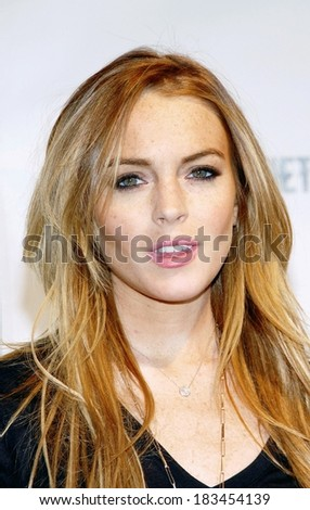 Lindsay Lohan at FEARnet's 2nd Anniversary Party, The Cellar Bar at The Bryant Park Hotel, New York, NY, October 30, 2008  - stock photo
