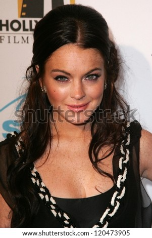 Lindsay Lohan at the Hollywood Film Festival's 10th Annual Hollywood Awards Gala. Beverly Hilton Hotel, Beverly Hills, CA. 10-23-06