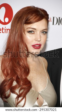 Lindsay Lohan at the Los Angeles premiere of 'Liz & Dick' held at the Beverly Hills Hotel in Beverly Hills on November 20, 2012. - stock photo