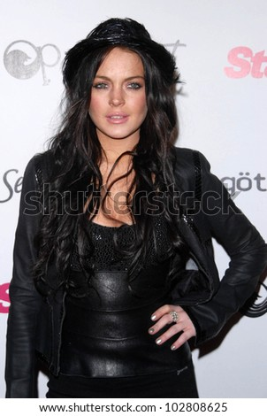 Lindsay Lohan at the Star Magazine Celebrates Young Hollywood Party, Voyeur, West Hollywood, CA. 03-31-10 - stock photo