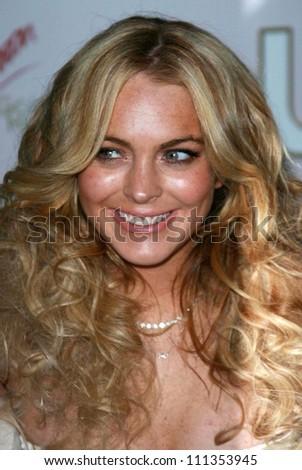 Lindsay Lohan at the Us Hot Hollywood 2007 party presented by Us Weekly. Sugar, Hollywood, CA. 04-26-07 - stock photo